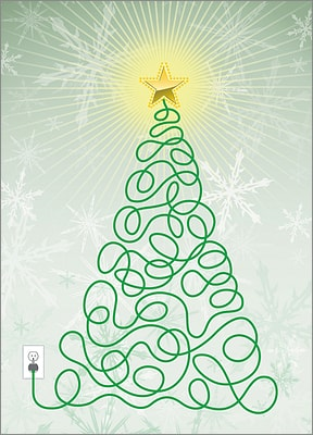Electrical Christmas Tree (Glossy White)