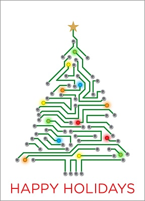 Electrical Engineering Christmas Tree (Glossy White)