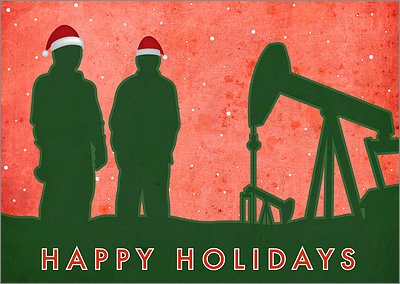 Petroleum Christmas Card (Glossy White)