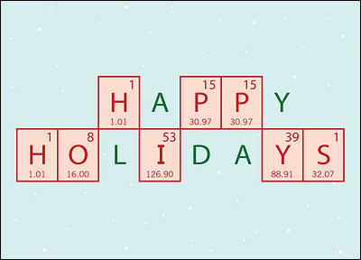 Chemical Engineer Holiday Card (Glossy White)